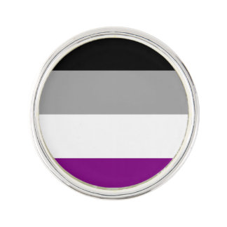 Bandera asexual del orgullo pin