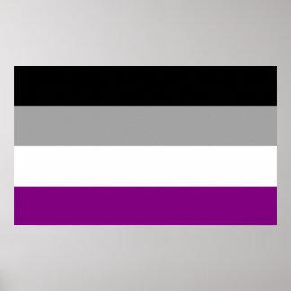 Bandera asexual del orgullo póster