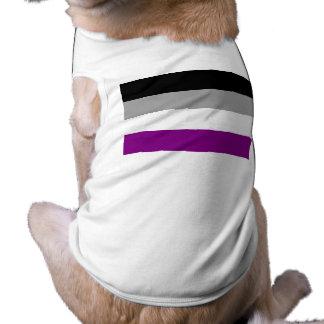 Bandera asexual del orgullo playera sin mangas para perro