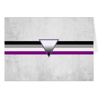 Bandera asexual del orgullo tarjeta de felicitación