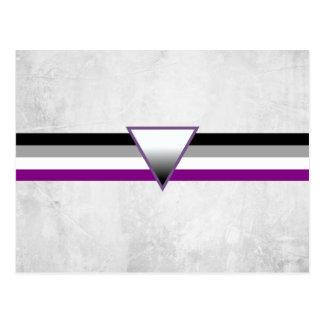 Bandera asexual del orgullo tarjetas postales