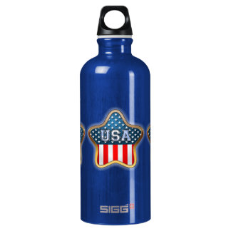 Bandera asteroide de los E.E.U.U. Botella De Agua