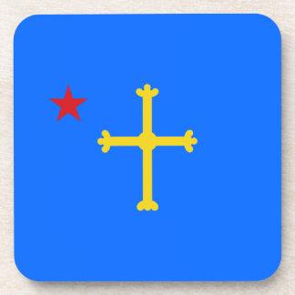 Bandera asturiana estrellada posavaso
