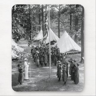 Bandera-Aumento del girl scout: 1919 Alfombrillas De Ratón