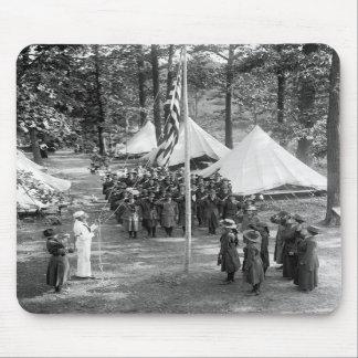 Bandera-Aumento del girl scout 1919 Tapete De Raton