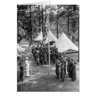 Bandera-Aumento del girl scout 1919 Tarjetón