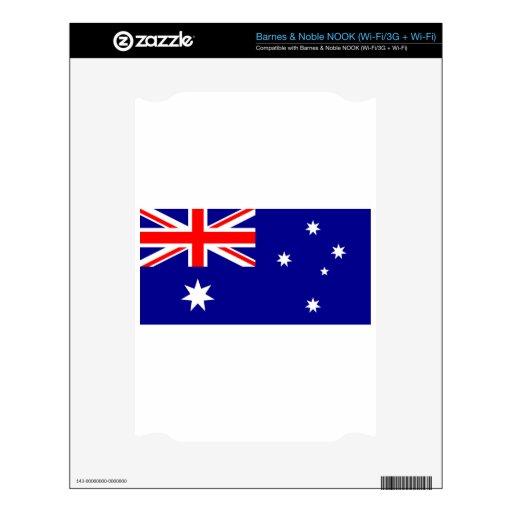 Bandera Australia. Símbolo australiano Calcomanía Para NOOK