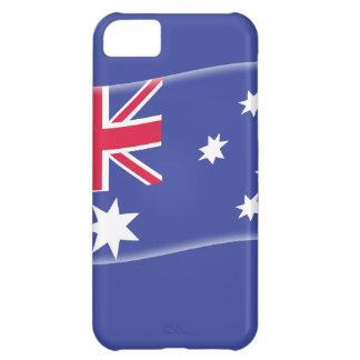 Bandera australiana australiana estilizada en un b