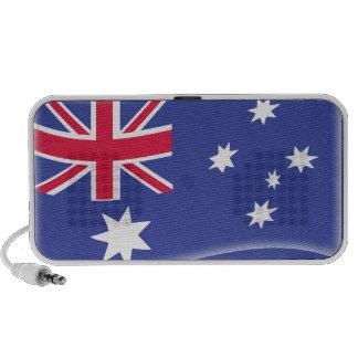 Bandera australiana australiana estilizada en un b iPod altavoces
