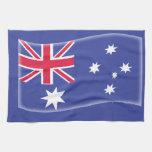 Bandera australiana australiana estilizada en un b toalla de mano