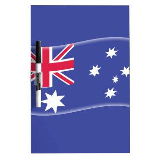 Bandera australiana australiana estilizada en un b pizarra