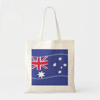 Bandera australiana australiana estilizada en un bolsa tela barata