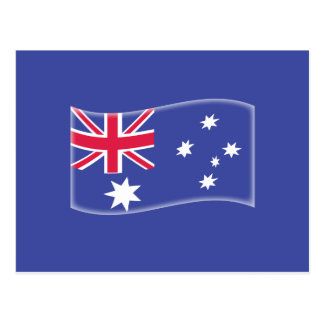 Bandera australiana australiana estilizada en un postal