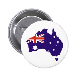 Bandera australiana azul del mapa pins