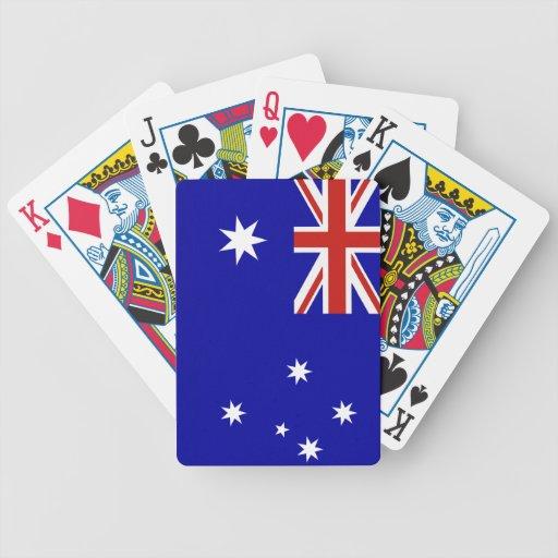 Bandera australiana barajas de cartas