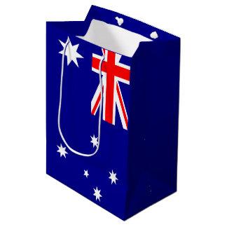 Bandera australiana bolsa de regalo mediana