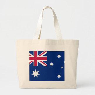 Bandera australiana bolsa de tela grande