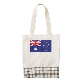 Bandera australiana bolsa tote zazzle HEART