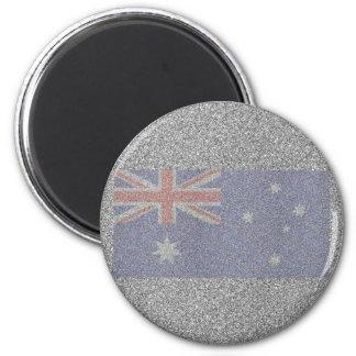 Bandera australiana brillante imán redondo 5 cm
