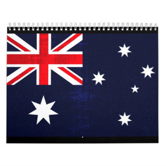 Bandera australiana calendario