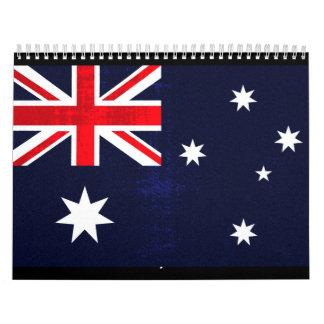 Bandera australiana calendarios