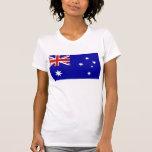 Bandera australiana camiseta