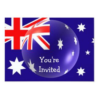 Bandera australiana con la invitación de la