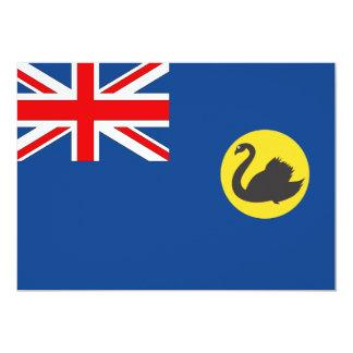 """Bandera australiana de Australia occidental Invitación 5"""" X 7"""""""