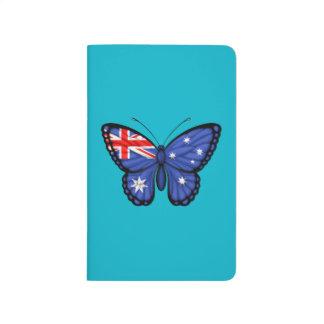 Bandera australiana de la mariposa cuaderno grapado
