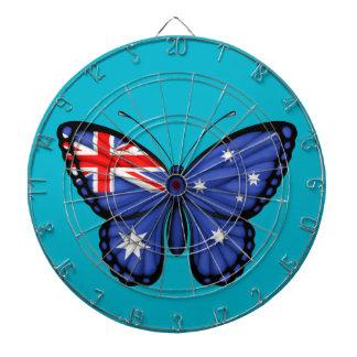 Bandera australiana de la mariposa tablero dardos