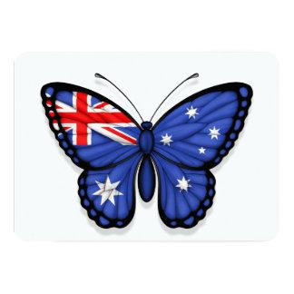 """Bandera australiana de la mariposa invitación 5"""" x 7"""""""