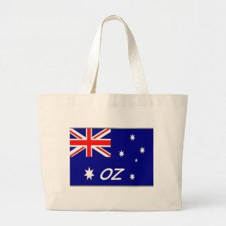 Bandera australiana de la onza bolsa de tela grande