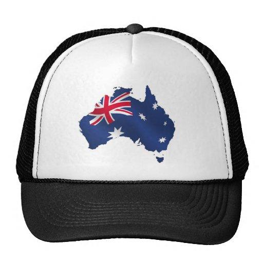 Bandera australiana del mapa gorro
