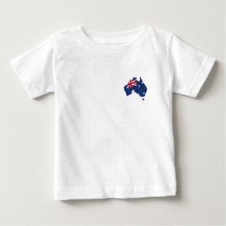 Bandera australiana del mapa playera de bebé