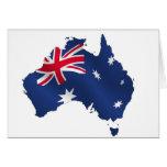 Bandera australiana del mapa tarjetas