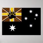 Bandera australiana del orgullo del oso poster