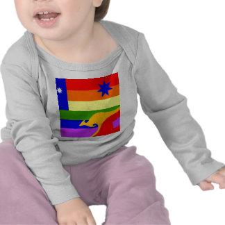 Bandera australiana del orgullo gay camisetas