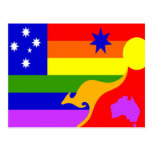 Bandera australiana del orgullo gay postal