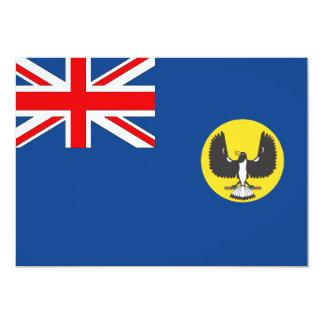 """Bandera australiana del sur de Australia Invitación 5"""" X 7"""""""