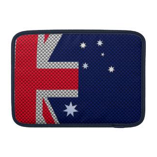 Bandera australiana en estilo del cromo de la funda  MacBook