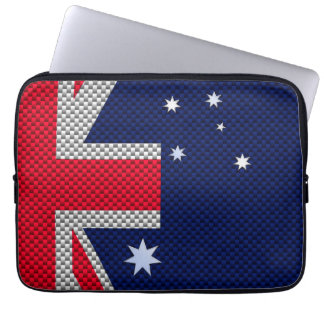 Bandera australiana en estilo del cromo de la funda portátil