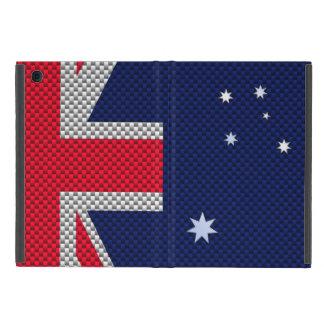 Bandera australiana en estilo del cromo de la iPad mini protectores