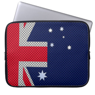 Bandera australiana en estilo del cromo de la mangas portátiles