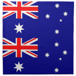 Bandera australiana en la servilleta de MoJo
