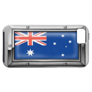 Bandera australiana en un marco de acero funda para iPhone SE/5/5s