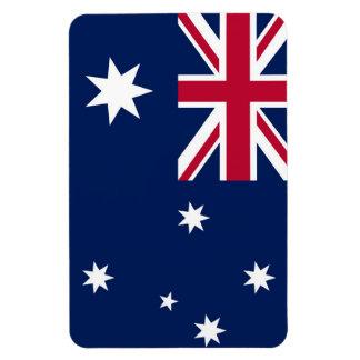 Bandera australiana imán foto rectangular