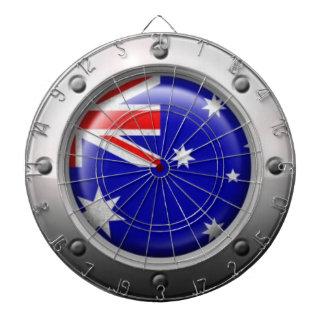 Bandera australiana industrial con el gráfico de a tablero dardos