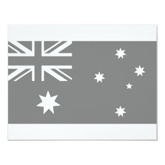 """bandera australiana invitación 4.25"""" x 5.5"""""""