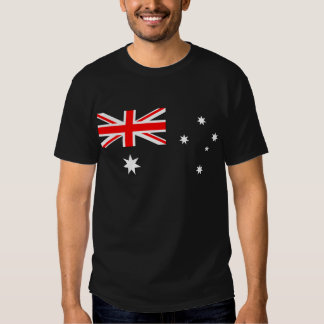 Bandera australiana (menos azul) playeras