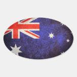 Bandera australiana calcomanía de óval personalizadas